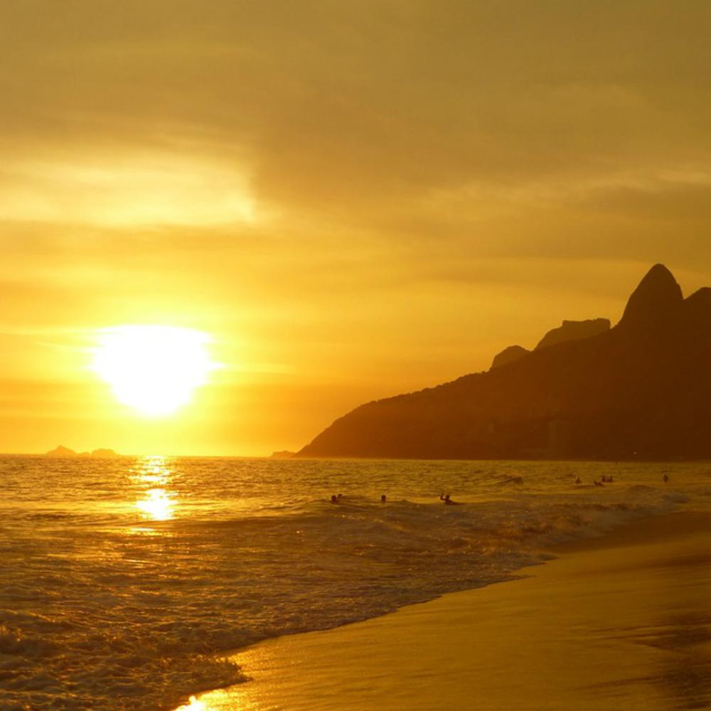 Strand in Zuid-Amerika